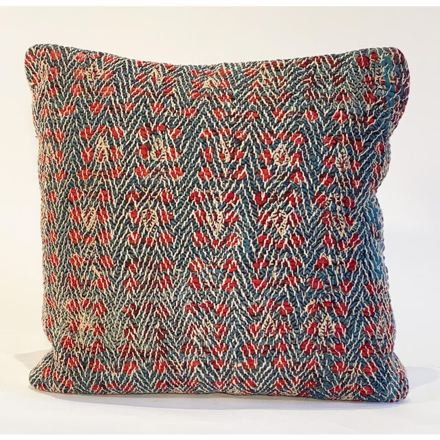 Vintage Textile Decorative Pillow by Pat McGann For Sale In Los Angeles - Image 6 of 6