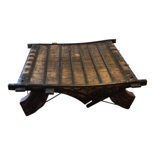 1990s Arhaus Oxcart Table For Sale