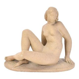 1930s Vintage Art Deco Depression Era Nude Woman After Waylande Gregory Sculpture For Sale