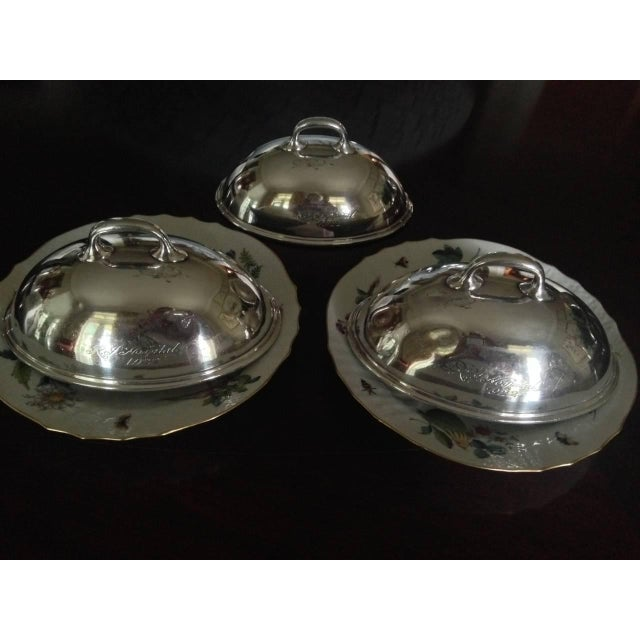 Early American Three Small Silver Dish Covers or Food Warmers, American, 1920s For Sale - Image 3 of 3