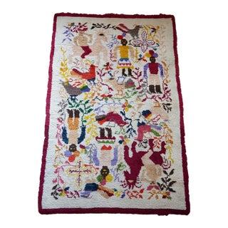 Mid-Century Indios Ecuadorian Rug by Olga Fisch For Sale
