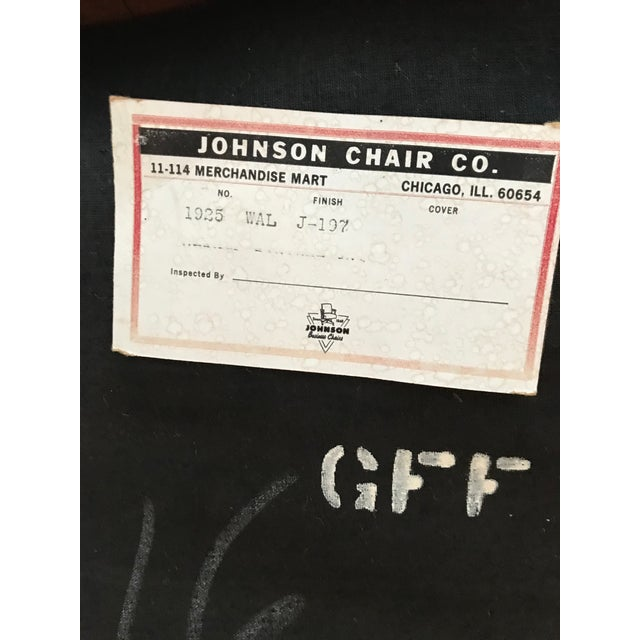 Johnson Chair Company 1960s Danish Modern Johnson Chair Co. Walnut Arm Chair For Sale - Image 4 of 11