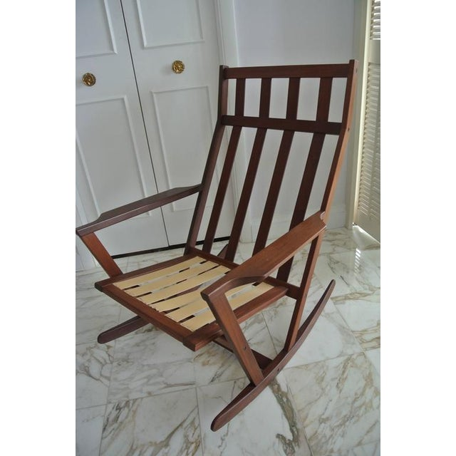 Mid 20th Century Rocking Chair by Poul Volther For Sale - Image 5 of 9