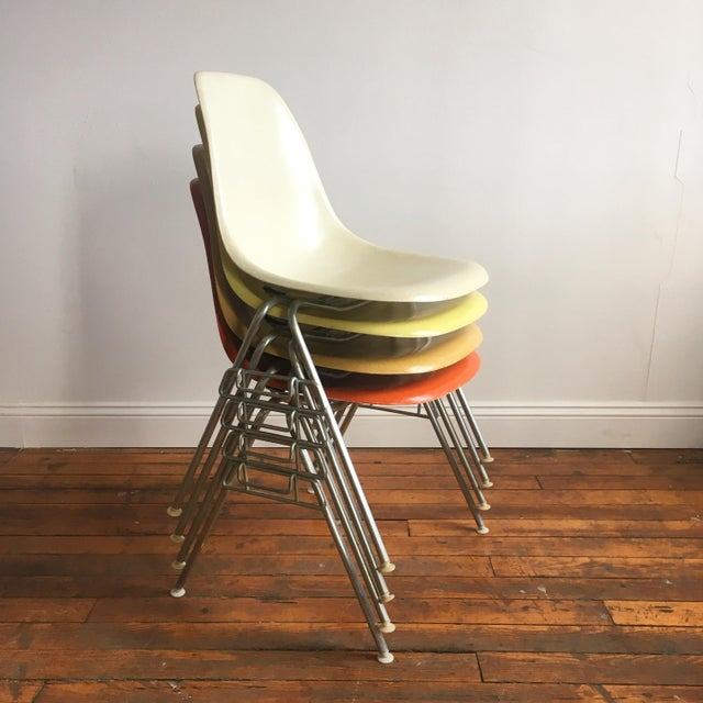 Vintage Herman Miller Eames Fiberglass Shell Chairs - Set of 4 - Image 3 of 10