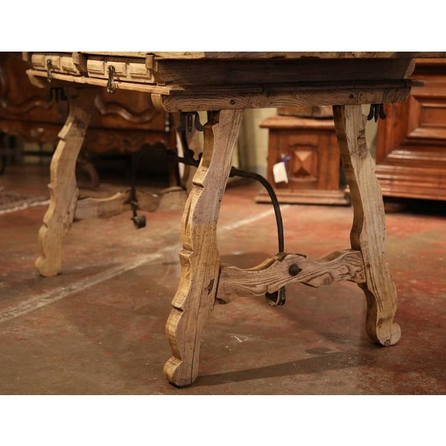 19th Century Spanish Bleached Chestnut Table For Sale In Dallas - Image 6 of 10