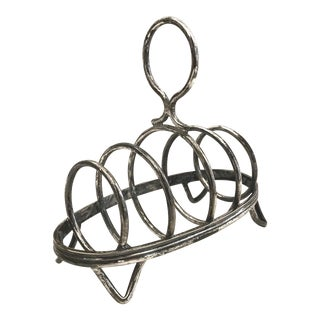 Vintage French Silver Plate Toast Rack For Sale