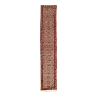 Pasargad Beige Color Hand-Knotted Moud Runner- 2′7″ × 13′11″ For Sale