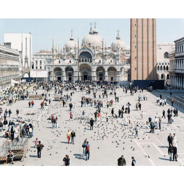 "27 Venezia San Marco from ""A Portfolio of Landscapes with Figures"" color photography print by Massimo Vitali - Image 1 of 3"