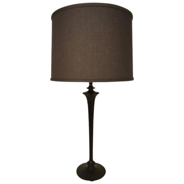 Giacometti Style Bronze Table Lamp For Sale