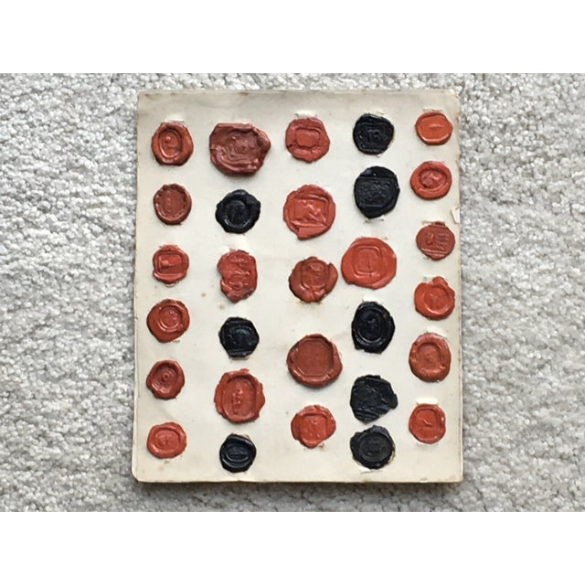 Antique English 29 Red and Black Intaglios Wax Seals For Sale - Image 12 of 12