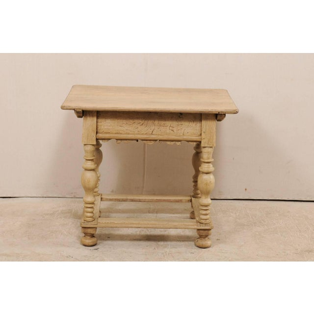 18th Century Swedish Period Baroque Wood Side Table on Turned Legs For Sale - Image 10 of 12