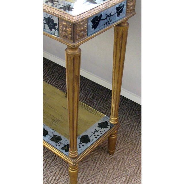 1940s French Maison Jansen 1940's Eglomise Console Table and Mirror For Sale - Image 5 of 12