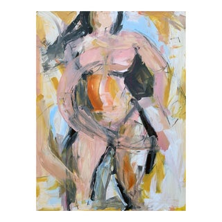 Woman in Yellow I Painting by Heidi Lanino For Sale