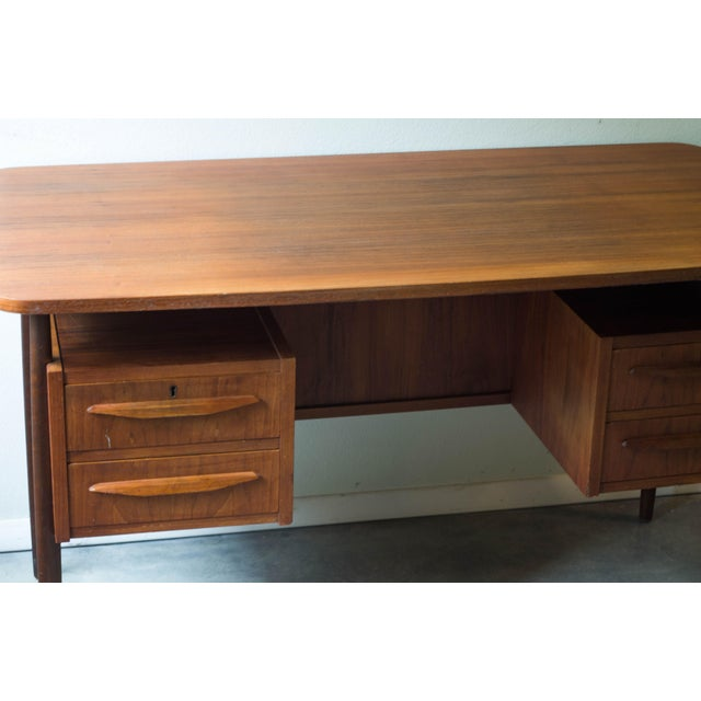 Vintage Danish Maurice Villency Mid-Century Desk Table - Image 4 of 8