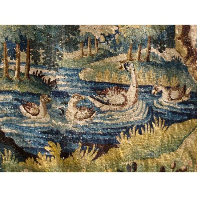 18th Century Flemish Verdure Tapestry Wall Hanging For Sale - Image 9 of 13