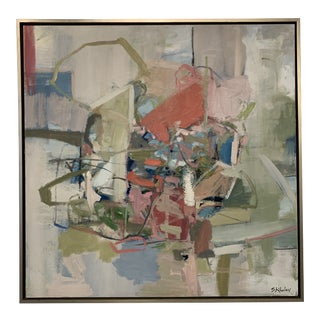 Contemporary Abstract Oil Painting by Stephanie Wheeler, Framed For Sale