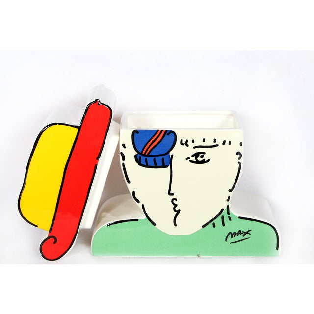 "Peter Max Peter Max ""Zero"" Cookie Jar For Sale - Image 4 of 10"