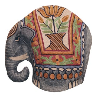 Vintage Silk Elephant Tea and Coffee Pot Cozy From India For Sale