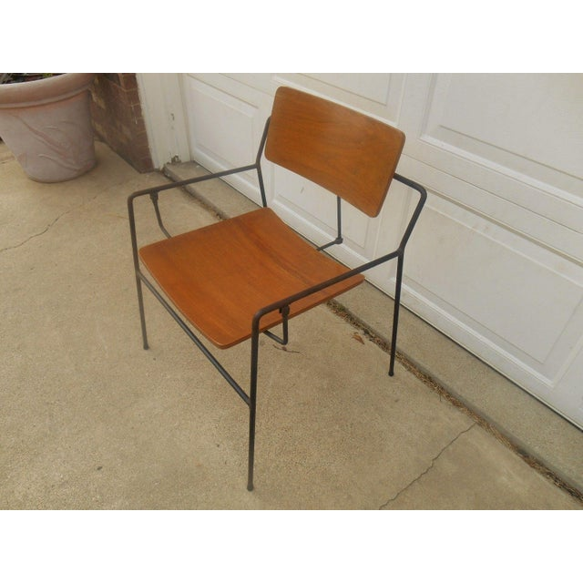Arthur Umanoff Iron & Walnut Swing Chair - Image 3 of 8
