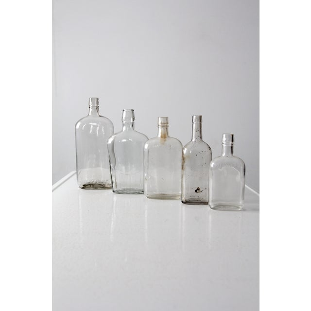 Antique Apothecary Bottle Collection - Set of 5 For Sale - Image 4 of 6