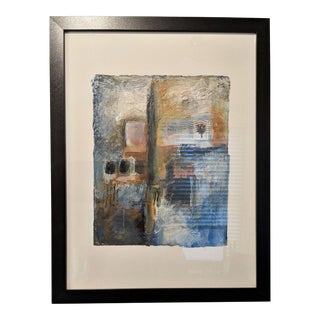 Contemporary Abstract Mixed-Media Work on Paper by Jillian Goldberg For Sale
