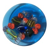 Image of Vintage Murano Blown Glass Wrapped Candy on Plate For Sale