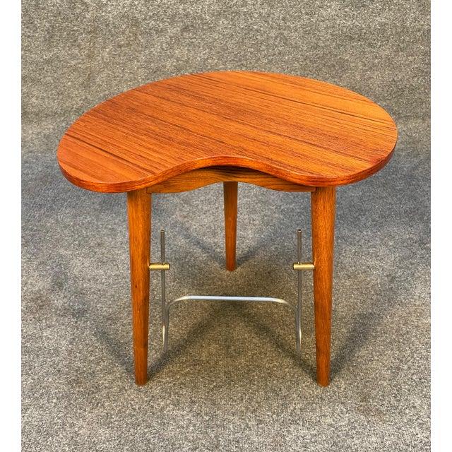 """Brown Vintage Danish Mid Century Modern """"Gorm"""" Side Table by Edmund Jørgensen For Sale - Image 8 of 9"""