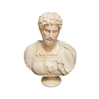 Late 19th Century Italian Marble Bust of Emperor For Sale