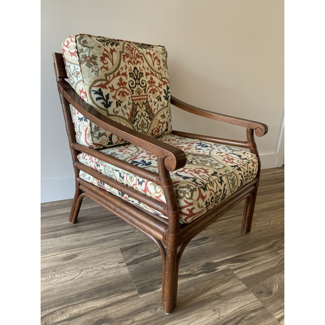 Vintage Mid-Century British Colonial Style Chair For Sale - Image 13 of 13