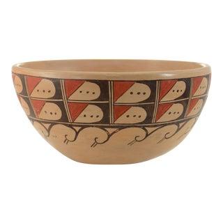 Hopi Style Wave Design Bowl For Sale