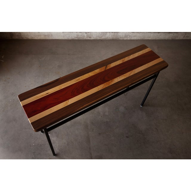 Tri-Wood Console With Steel Base - Image 5 of 5