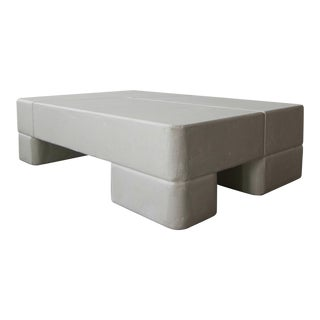 Postmodern Minimalist Plaster Coffee Table For Sale