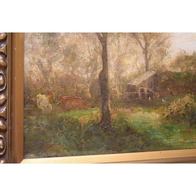 "English Oil on Canvas-""Impressionist Landscape"" Signed Edwin Bottomley, Dated 1902 For Sale - Image 3 of 8"