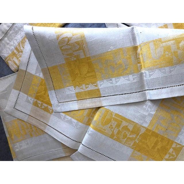 Vintage Damask Linen Napkins - Set of 12 For Sale - Image 11 of 13