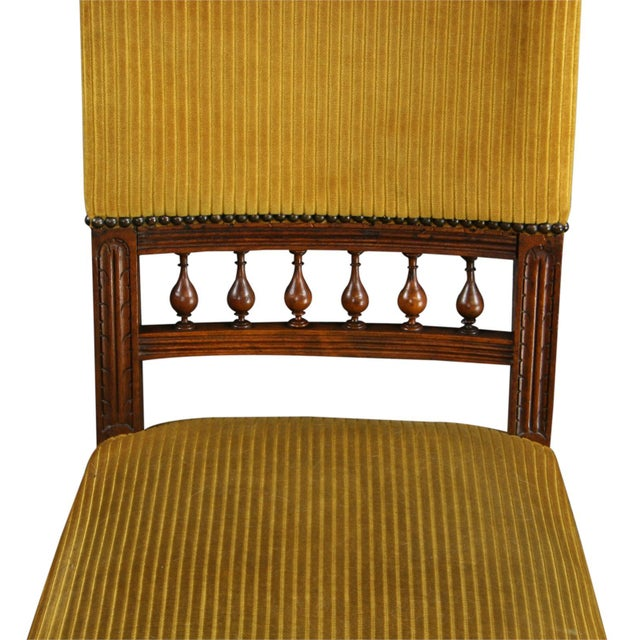 Antique French Dining Chairs Henry II - Set of 6 - Image 6 of 10