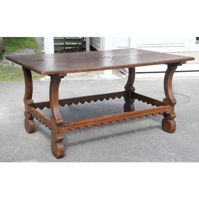 Wood Spanish Chestnut Center Table For Sale - Image 7 of 7
