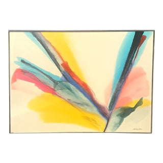 1980s John Douglas Zaccheo Abstract Painting For Sale