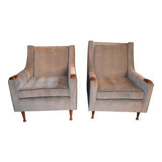 Mid Century Vintage Adrian Pearsall Styled His and Hers Chairs- A Pair For Sale