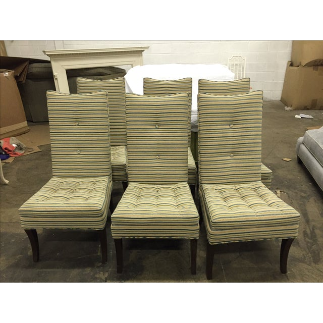 Striped R. Jones Dining Chairs - Set of 6 - Image 7 of 9