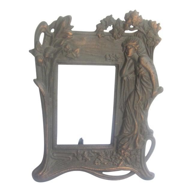 Antique 1900\'s Art Nouveau Copper Frame   Chairish