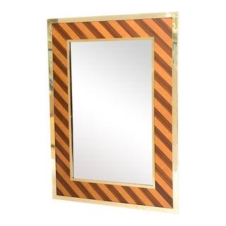 Brass-Framed Mirror For Sale