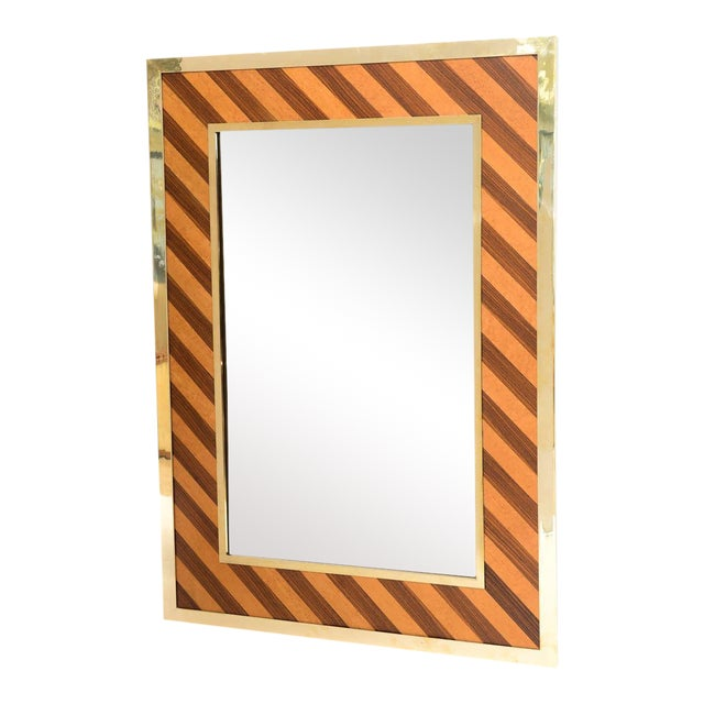 Brass-Framed Mirror For Sale