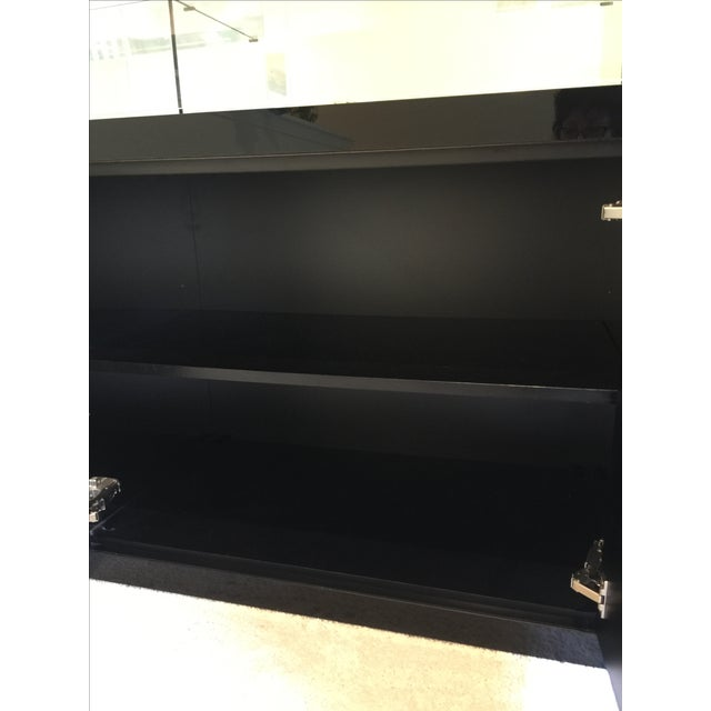 Ello Black Glass Curio Cabinet Desk For Sale - Image 9 of 11