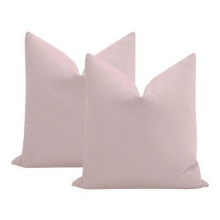 """22"""" Lilac Performance Linen Pillows - a Pair For Sale"""