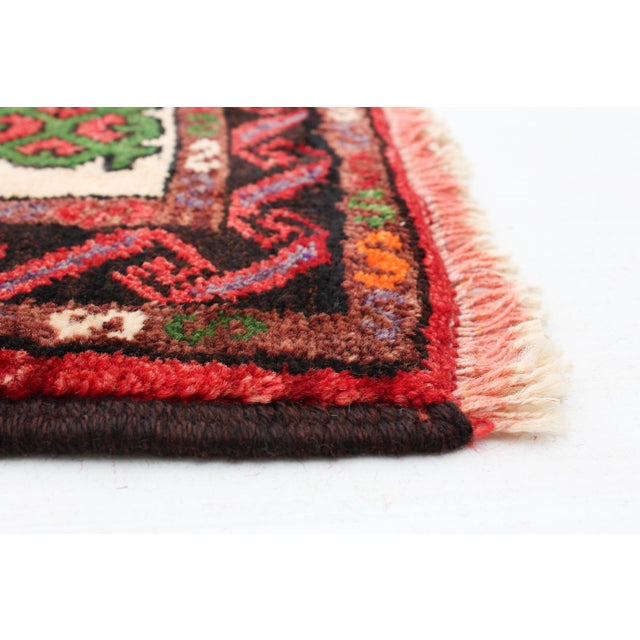 Hand-Knotted Turkish Red Rug For Sale - Image 4 of 9