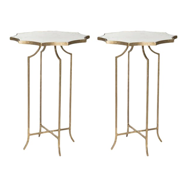 Charming Pair of Diminutive Drinks Tables in the Style of Maison Baguès - Image 1 of 3
