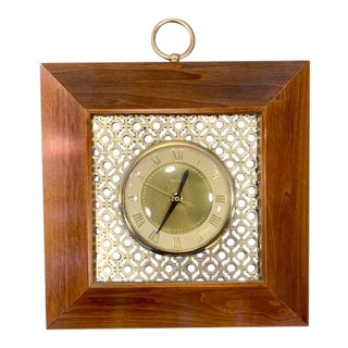 1950s Mid-Century Wall Clock by United For Sale