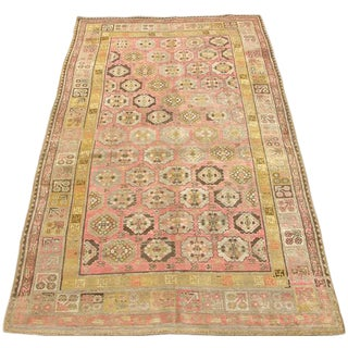 Early 20th Century Antique Khotan Handmade Rug - 5′8″ × 10′5″ - Size Cat. 6x9 7x10 For Sale