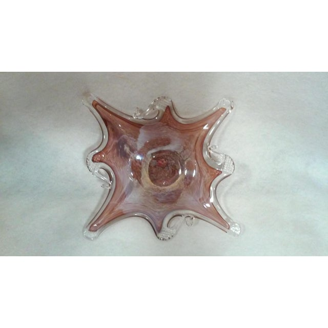 Mid Century Merlot. Color Murano Dish For Sale - Image 4 of 7