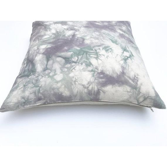 Hand Dyed Gray Marble Throw Pillow Cover - 20
